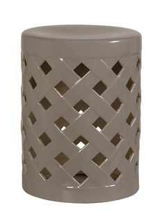 Modern Gray Ceramic Garden Stool.  Free Shipping!