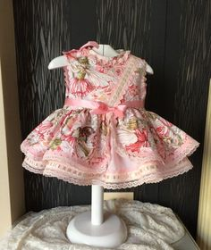 pink fairy baby girl dress toddler cute easter outfit  by pitufos