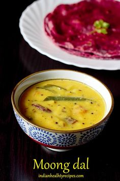 Adjust spice level down. moong dal is an Indian dish made by tempering cooked moong lentils with spices. Delicious, flavorful & healthy dal recipe Recipe instructions for Instant pot & stovetop via Tasty Vegetarian Recipes, Lentil Recipes, Healthy Recipes, Moong Dal Recipe, Dal Fry, Jeera Rice, Lentil Dishes, Easy Indian Recipes, Indian Kitchen