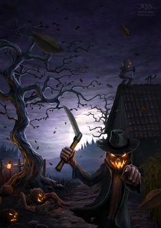 Evil Pumpkins by amorphisss on deviantART