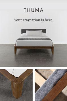 Furniture Decor, Bedroom Furniture, Furniture Design, Diy King Bed Frame, Japanese Bed, Platform Bed Frame, Woodworking Furniture, Room Decor Bedroom, Diy Home Decor