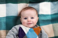 Kel Murphy Photography 3 month old baby boy laying on blanket outside in the fall, Philadelphia, Abington child photographer