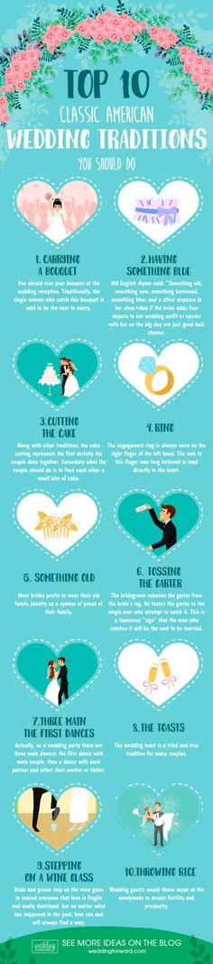 4 Helpful Wedding Planning Infographics That Will Save You From A Pre-Wedding Heart Attack ❤ helpful wedding planning infographics top 10 classic american wedding traditions you should do ❤ See more: http://www.weddingforward.com/helpful-wedding-planning-infographics/ #weddingforward #wedding #bride
