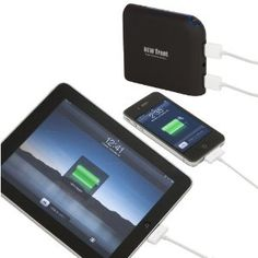 New Trent iGeek IMP99D 9900mAh External Battery Pack and Charger for iPad (4th gen) with Retina display, the NEW iPad (3rd gen), iPad 2, iPhone 5/4S/4/3Gs/3G, iPod Touch all versions; Samsung Galaxy Note/Nexus/S3/S2/S; HTC Titan, Sensation, ONE S/V/X, EVO Thunderbolt, Desire; LG Optimus series; Blackberry Bold, Curve, Torch; Motorola Razr HD/MAXX & Bionic, Atrix/2; Nokia Lumia 700/800/900 and GoPro, Plus Major Tablet PCs with 5V input (Samsung, Blackberry, HTC) etc.