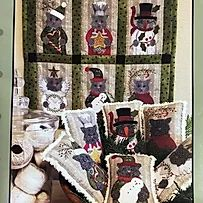 Wool Applique, Embroidery, Stitchery Pillows, banner patterns