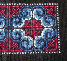 Handmade Hmong cross stitch textile for by AsianTextileStudio