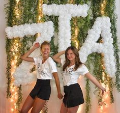 I think the skort with the tshirt looks really cute, and would be a great look for sisterhood.