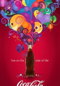 Paulo Canabarro – Coca Cola: De verschillende kleuren en vormen zijn erg vrolijk en dit past ook bij het motto van het merk. Aan het Coca Cola flesje heeft de kunstenaar niks aan veranderd waardoor het eigenlijke product goed te zien is.