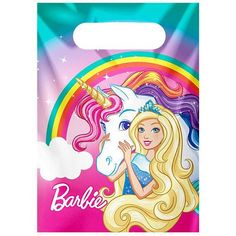 Barbie Unicorn Dreamtopia Party Plastic Loot Bags Birthday Party Kids . Choose your quantity. Size of each bag measured 23cm x 14cm. we have a wide range of party items and personalised gifts available, please send a message if there is anything you are after and cant find , we will