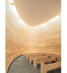 Un guscio di legno dove pregare