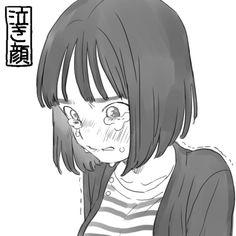 Art Anime Fille, Anime Art Girl, Manga Art, Manga Anime, Crying Girl Drawing, Cry Drawing, Drawing Sketches, Dark Art Illustrations, Dark Art Drawings