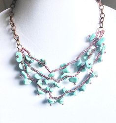 women jewelry necklace Multi strand beaded jewelry necklace