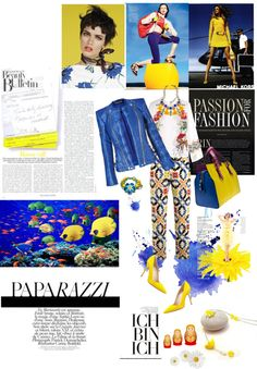"""""""Yellow & blue"""" by samareh-s ❤ liked on Polyvore"""