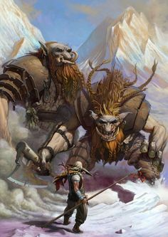 Frosty Mountain Trolls attack a trespasser to their domain... in this instance they should have left this one alone.