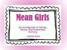 "This activity is a great way to tie in real world examples of rates, ratios, and proportions in the math classroom.  Students watch a short (classroom appropriate) clip of the popular movie ""Mean Girls"" and then are given the opportunity to work collaboratively to determine the calculations of day-to-day foods based on the nutritional label."