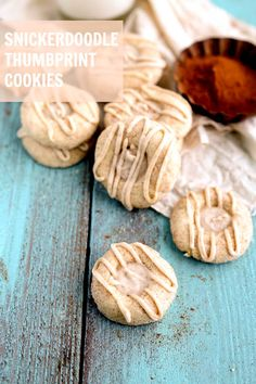 Simple and Delicious Snickerdoodle Thumbprint Cookies on { lilluna.com }