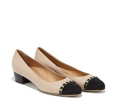 Vara Chain Cap-Toe Pump | Salvatore Ferragamo