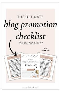 Running a travel blog isn't easy! In fact how to run a blog is one of  the most frequent questions I see asked by bloggers. And how to promote a  blog is no easy feat. I've put together this ultimate blog promotion  checklist to show you the best ways to promote your blog posts. These  are the best blog promotion ideas and tips to increase your blog traffic  and catapault your pageviews! Happy blogging!