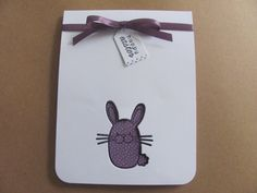 Handmade Easter Bunny Card by SassyScrapsCrafts on Etsy, $3.50