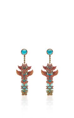One of a kind totem pole earrings by Lydia Courteille