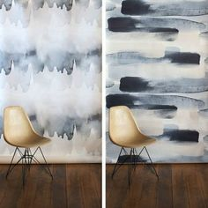 Water Works From Emma Hayes — New Zealand designer Emma Hayes likes to play with water, and it shows up beautifully in her range of textiles and home products: cushions, pillowcases and blankets laden with monochromatic washes of color, dense with the gestural brushstrokes of ink and watercolor seascapes. We especially like her Tidal and River Wallpaper offerings, which gorgeously walk the line between wallpaper and art.