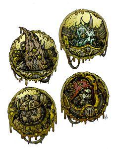 Death guard (avatars) by Sufferst on DeviantArt Chaos 40k, Chaos Lord, Warhammer 40k Rpg, Warhammer Fantasy, Dark Fantasy Art, Space Marine, Miniture Things, Portrait, Cosmic