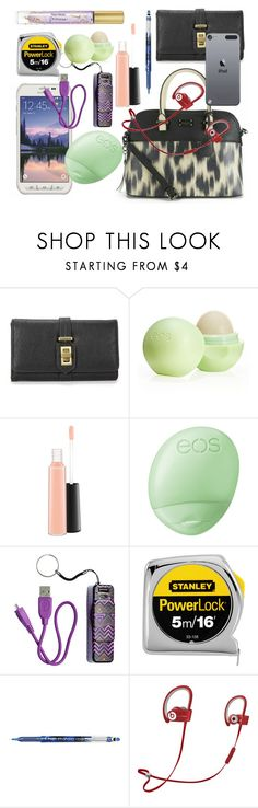 """""""What's in my purse?"""" by rebecadeleon ❤ liked on Polyvore featuring moda, Eos, MAC Cosmetics, H&M, Pilot i Beats by Dr. Dre"""