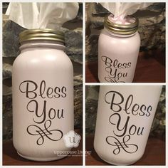 Bless You – Mason Jar Tissue Holder