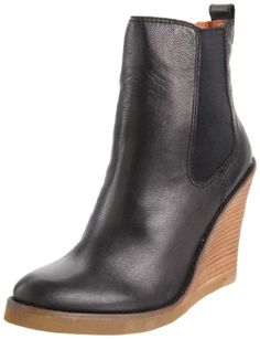 "• A unique wedge boot that pairs perfectly with jeans or skirts • Beeswax leather upper • Elastic-gored side panels • Synthetic lining • Manmade sole • Lightly padded footbed • 4"" heel height     http://www.amazon.com/dp/B00590K11Y/?tag=icypnt-20"