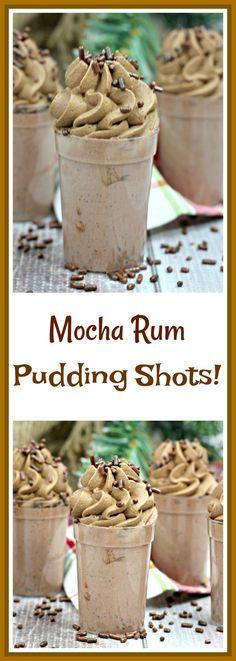 Mocha Rum Pudding Shots – Amazing World Food and Recipes Pudding Shot Recipes, Jello Pudding Shots, Jello Shot Recipes, Alcohol Drink Recipes, Pudding Recipe, Chocolate Pudding Shots, Chocolate Cake, Salad Recipes, Köstliche Desserts