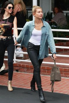 Hailey Baldwin rocking the Citizens of Humanity Rocket Skinny || Shop the skinnies: http://www.nastygal.com/clothes-bottoms-denim/citizens-of-humanity-rocket-skinny?utm_source=pinterest&utm_medium=smm&utm_term=nastygals_in_the_wild&utm_campaign=influencer
