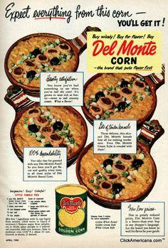 Vintage DEL-MONTE GOLDEN SWEET CORN Sample Advertising Tin Can