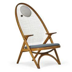 Helge Vestergaard-Jensen, Racket chair, Denmark, des. 1950s