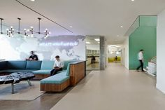 Hain Celestial headquarters by Architecture + Information & JBM Interior Design, Lake Success New York office Free Interior Design, Commercial Interior Design, Office Interior Design, Commercial Interiors, Interior Ideas, Corporate Interiors, Corporate Design, Office Interiors, Retail Design