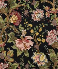 Braemore Alhambra Ebony Fabric - this will make my Pinehurst living/dining room window treatments look fabulous!