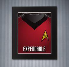 Star Trek Red Shirt Print - 8x10 by KnerdKraft on Etsy