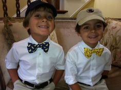 Southern Proper, start them young. Now If I can just get them to wear the ties