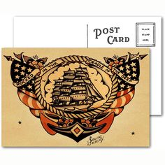 Sailor Jerry Tattoo Postcard