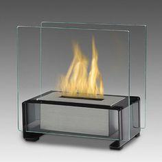 Eco-Feu Toulouse Gloss Black Tabletop Ethanol Fireplace with Fuel Biofuel Fireplace, Ethanol Fireplace, Foyers, Toulouse, Foyer Mural, Tabletop Fireplaces, Fireplace Modern, Indoor Fireplaces, Portable Fireplace