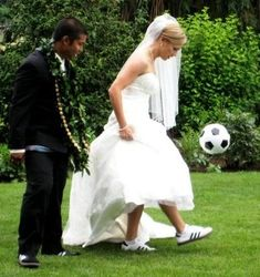 Yeah I won't deny it...I'm definitely going to have some wedding picture taken with my cleats and a soccer ball. I mean I only played for 17 years no big deal.