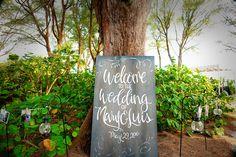 #wedding sign #outdoor wedding #garden wedding #Florida destination wedding