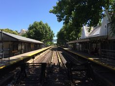 Estacion San Isidro Railroad Tracks, Cabin, House Styles, Parking Lot, Buenos Aires, Cabins, Cottage, Wooden Houses, Train Tracks
