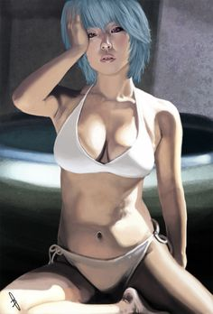 rei ayanami cosplay draw by KuristO