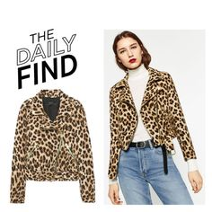 """""""The Daily Find: Zara Jacket"""" by polyvore-editorial ❤ liked on Polyvore featuring DailyFind"""