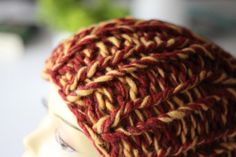 Strick long  xxl Beanie orangerot Schurwolle  von Marie-Bubbles auf DaWanda.com