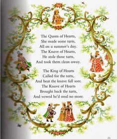 Nursery Rhyme The Queen of hearts Nursery Rhymes Lyrics, Old Nursery Rhymes, Nursery Songs, Childhood Poem, Traditional Nursery Rhymes, Nursery Ryhmes, Kindergarten Songs, Poetry For Kids, Rhymes Songs