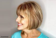 Check out these gorgeous autumn hues for ladies in their sixties! Short Hair Over 60, Short Wavy Hair, Short Hair Styles, Hair Color For Women, Cool Hair Color, Spring Hairstyles, Short Hairstyles For Women, Helen Mirren Hair, Creamy Blonde
