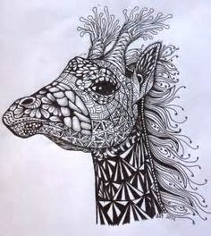 coloring zentangle animals - Yahoo Image Search Results