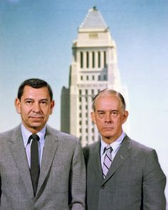 """""""Dragnet"""" starred Jack Webb as Sgt. Joe Friday and Harry Morgan played his… Great Tv Shows, Old Tv Shows, Movies And Tv Shows, Detective, Vintage Television, Vintage Tv, Classic Tv, Best Tv, So Little Time"""
