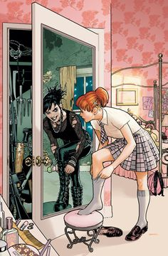 this is how i imagine @Melissa Melançon in high school Alter Ego, Double Life, Dark Side, Light Side, Mirror Mirror, Mirror Image, Magic Mirror, Mirrors, Emo Clothes For Girls